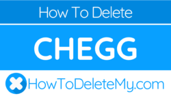 How to delete or cancel Chegg