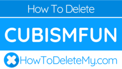 How to delete or cancel Cubismfun