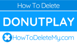 How to delete or cancel Donutplay