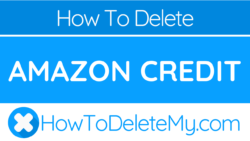 How to delete or cancel Amazon Credit