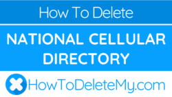 How to delete or cancel National Cellular Directory