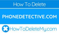 How to delete or cancel PhoneDetective.com