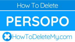 How to delete or cancel Persopo