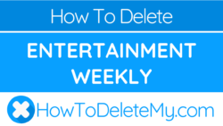 How to delete or cancel Entertainment Weekly