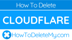 How to delete or cancel CloudFlare
