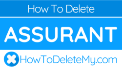 How to delete of cancel Assurant