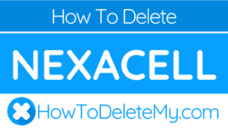 How to delete or cancel Nexacell