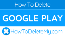 How to delete or cancel Google Play
