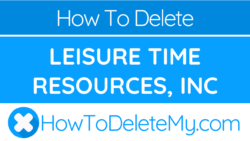 How to delete or cancel Leisure Time Resources