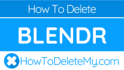 How to cancel blendr