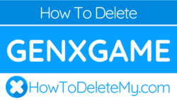 How to delete or cancel Genxgame