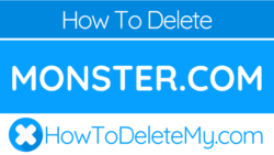 How to delete or cancel Monster.com