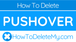How to delete or cancel Pushover